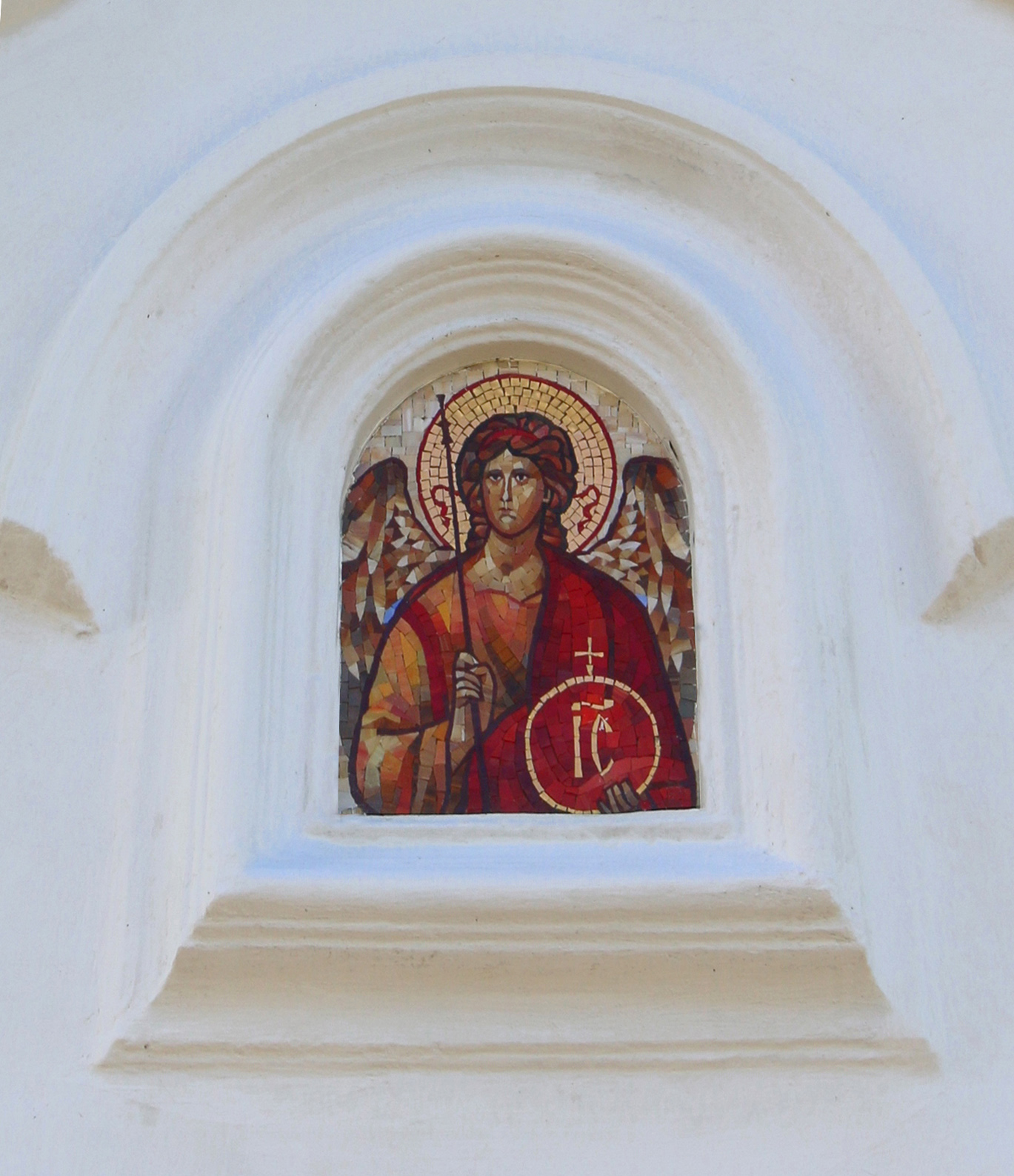 Mosaic icon of the Archangel Michael 5