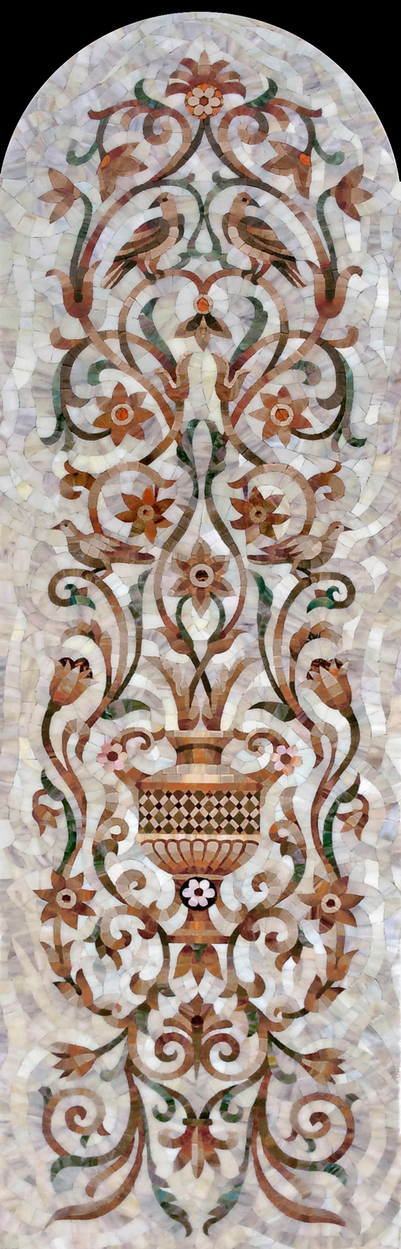 Fragment of a mosaic of Oriental ornament 7